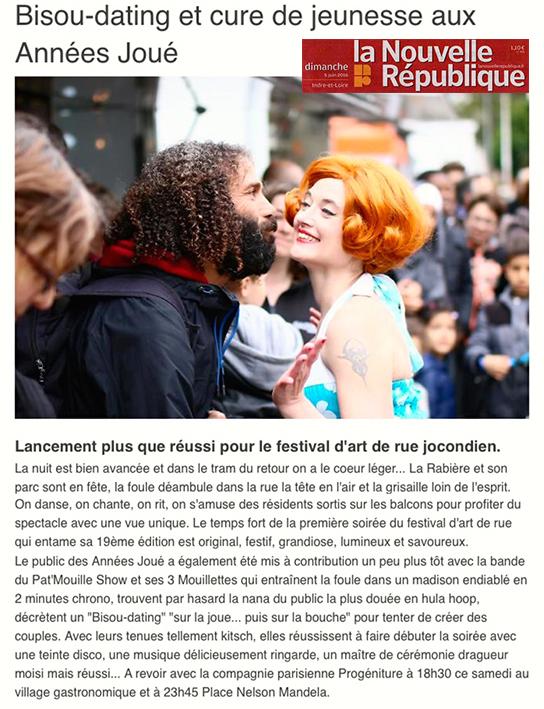 Cie Progéniture - Pat'Mouille & ses Mouillettes - Presse