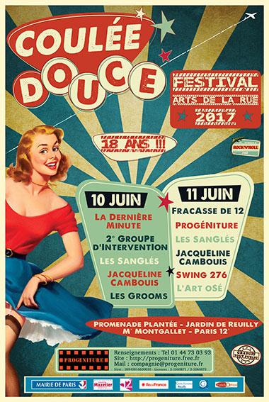 La Compagnie Progéniture présente le festival 2017 : coulée Douce