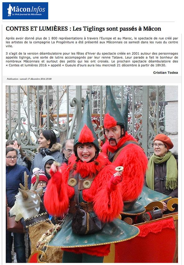 Les Tiglïngs - Presse