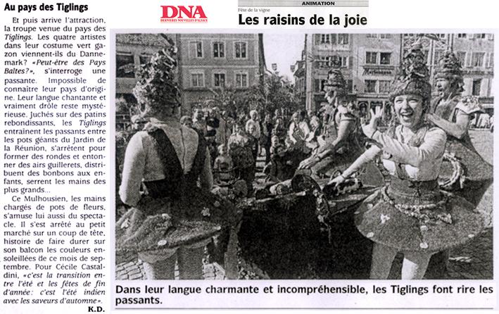 Les Tiglïngs - Arts de la Rue - Cie Progéniture - Presse