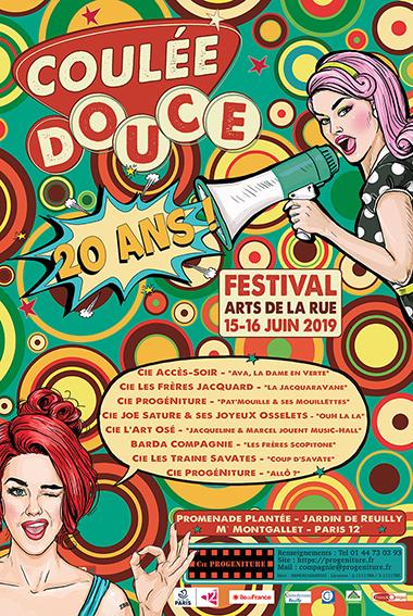 Affiche petite festival Coulée Douce 2019 Arts de rue